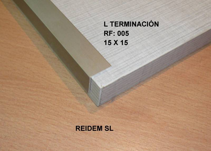 L terminación inferior sistemas convencionales colocación normal 80 mm